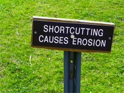 Shortcutting sign