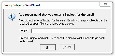 SendGuard alert