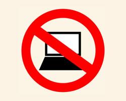 No Computers sign